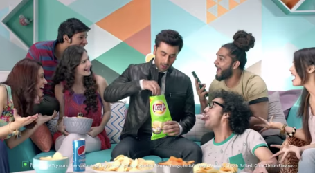 Still from the Lays ad