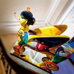 Paresh Maity's winged woman installation