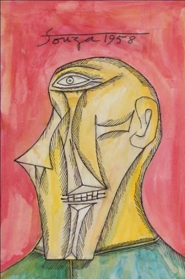 1958, Untitled (Head of Man in Semi Profile)