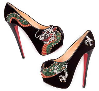 Personalised tattoo made-to-measure pumps from Christian Louboutin