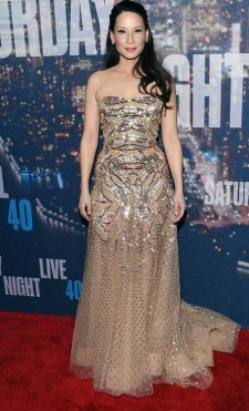 Lucy Liu: Because golden is obviously better than black.