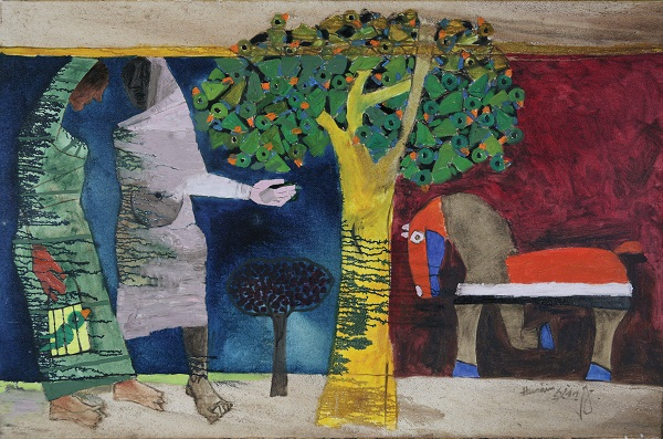 Artwork for Stretched Terrains at KNMA, New Delhi