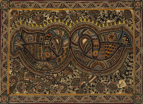 Mithila painting at Jamaat Art, Mumbai