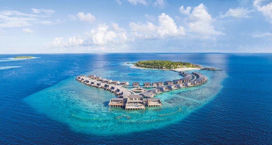 Aerial view of the St. Regis Maldives Vommuli Resort