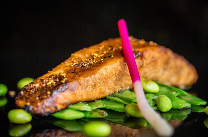 Miso glazed salmon