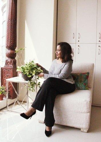 Masooma Rizvi at her office Belita Design Solutions in Gurgaon.