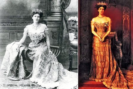 Lady Curzon Durbar, 1903, wore the Peacock Dress at court, made by The House of Worth