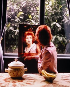 David Bowie In Mirror, Haddon Hall, UK 1972