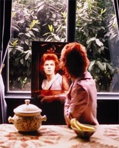 David Bowie In Mirror, Haddon Hall, UK 1972