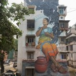 Art, Featured, Grafitti, Installation, Mahim East, Mexican artist, Miles Toland, Mumbai, Mural, Online Exclusive, St+art Festival 2018, St+Art India, St+art India Foundation