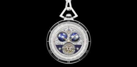 Mont Blanc Villeret Tourbillon Cylindrique Transatlantic Pocket Watch Limited Edition 8