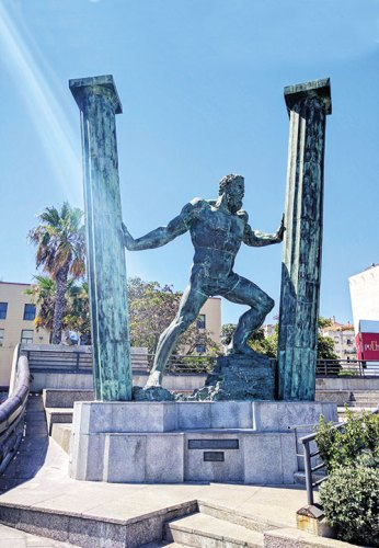 'The Hercules', a statue dedicated to the mythical hero