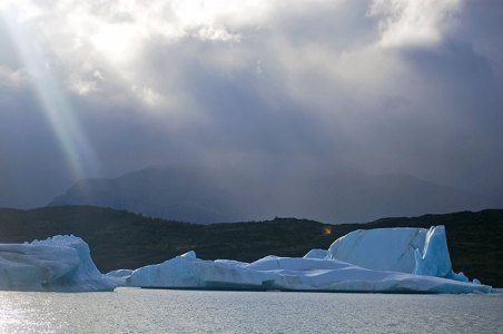 Frozen rivers of ice