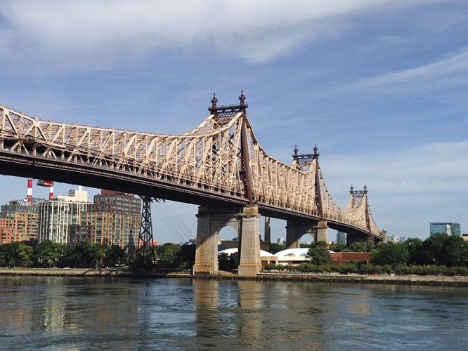 The 59th Street Bridge (seen in Woody Allen's Manhattan)