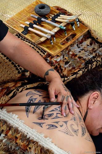 Traditional Māori Tattoo Artistry