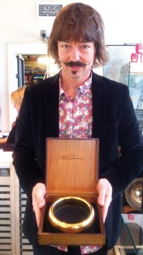 Halfdan Hansen holding the One Ring