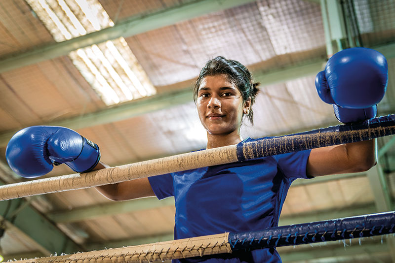 Nikhat Zareen, Boxer, winner of gold at the 2011 AIBA Women's Junior and Youth World Boxing Championships
