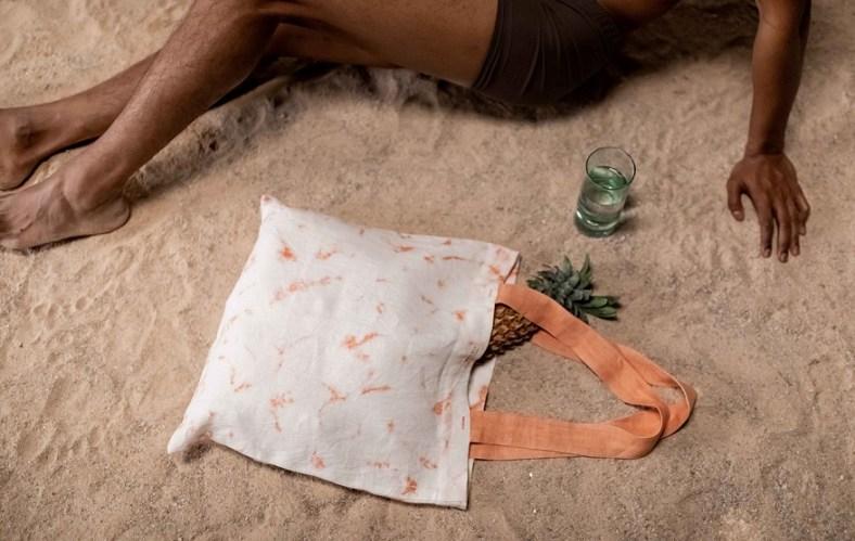 Zero waste organic linen tote