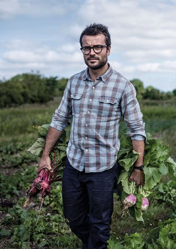 Chef Christian Puglisi at the Farm of Ideas. Photograph by P. A. Jorgensen