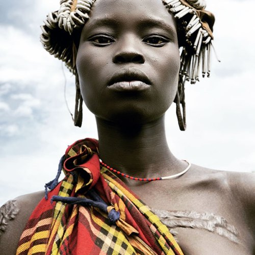 A Girl from the Mursi Tribe