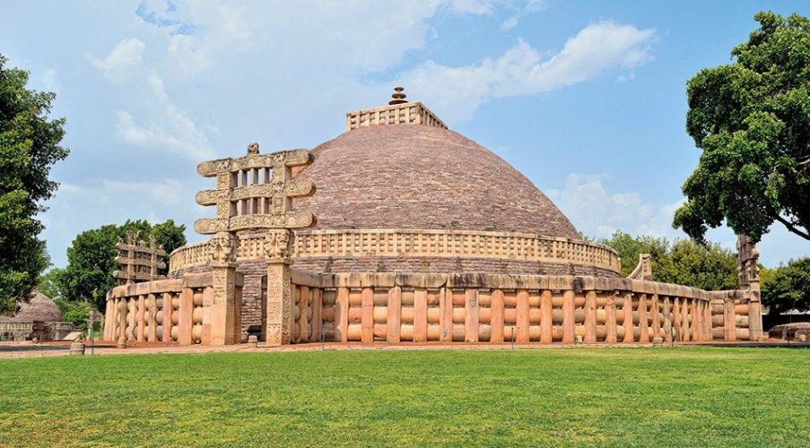 The great stupa at Sanchi