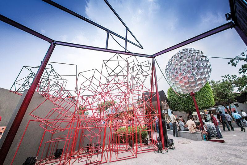 A Narayan Sinha installation at The India Story, Parmesh's Viewfinder, Parmesh Shahani