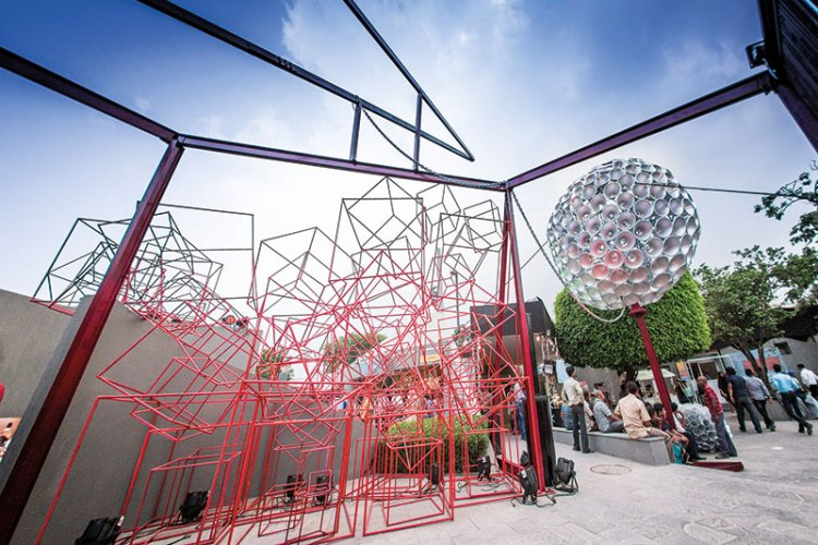 A Narayan Sinha installation at The India Story