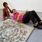 Parmesh's Viewfinder, Parmesh Shahani with artist Suruchi Choksi and her sculpture at India Art Fair