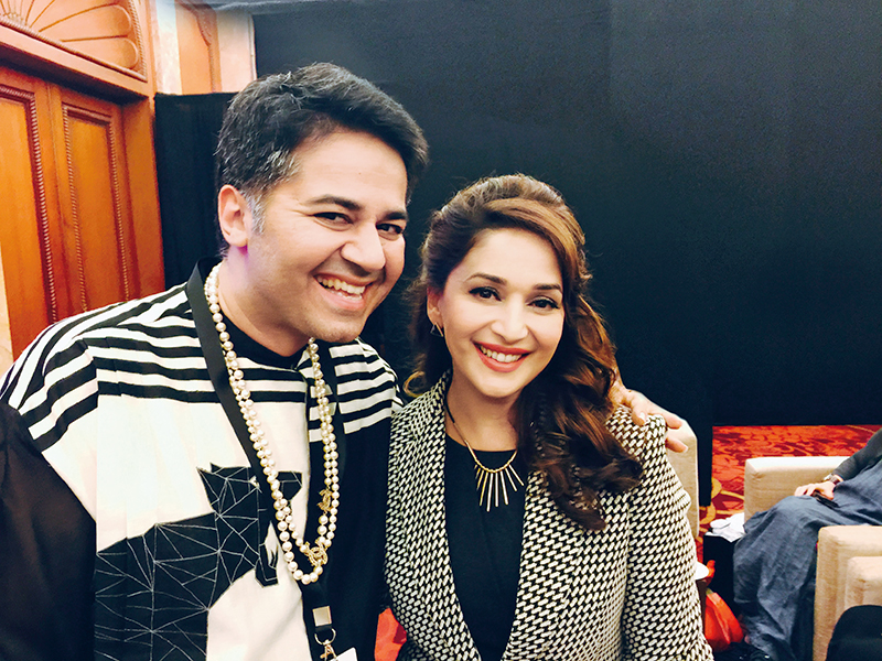Parmesh Shahani and Madhuri Dixit Nene