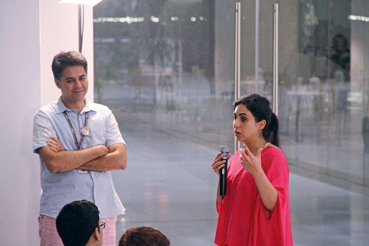 Parmesh Shahani with Nisa Godrej