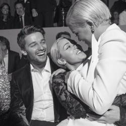 Patrick Schwarzenegger, Miley Cyrus, Rita Ora at Tom Ford