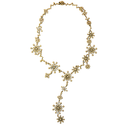 Payal New York Starburst Necklace with diamonds and gold