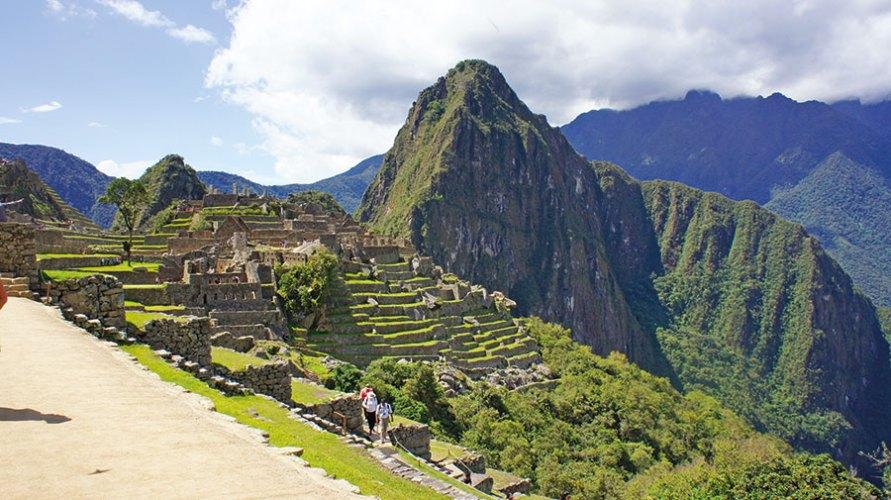 The first sight of Machu Picchu