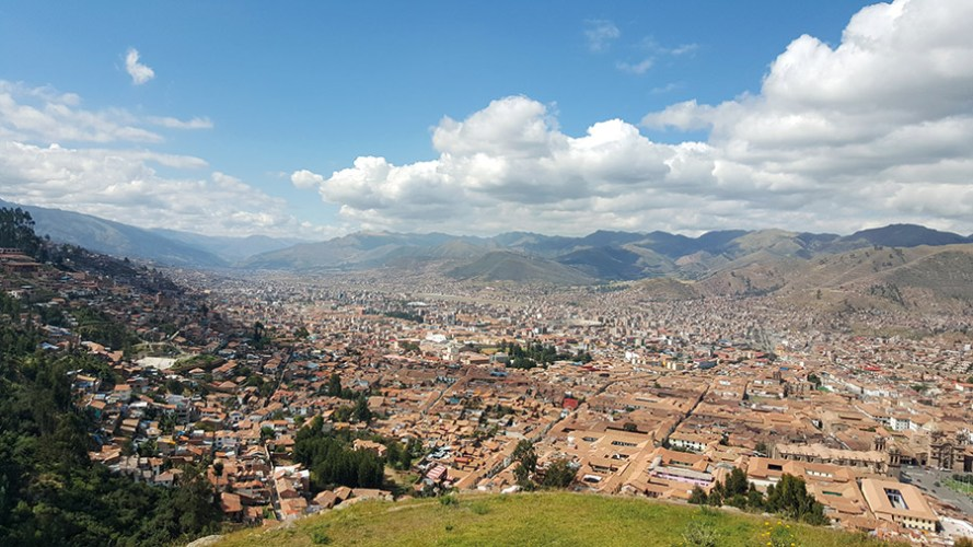 A view of Cusco city from Sacsayhuamán temple
