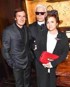 Pietro Beccari, Karl Lagerfeld, Silvia Venturini Fendi