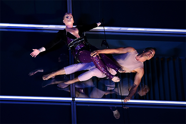 P!nk performed almost 40 stories high while scaling a hotel only suspended with wires