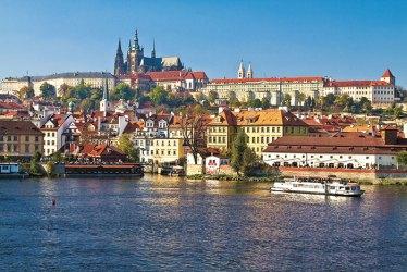 Vltava waterfront: architectural diversity
