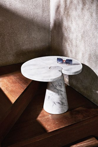 Sunglasses, from Fendi, New Delhi. Eros Occasional Table by Angelo Mangiarotti, 1971