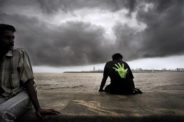 Monsoon clouds, Marine Drive, Mumbai 2009