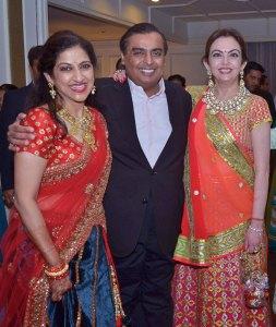 Radhika Kaji, Mukesh and Nita Ambani