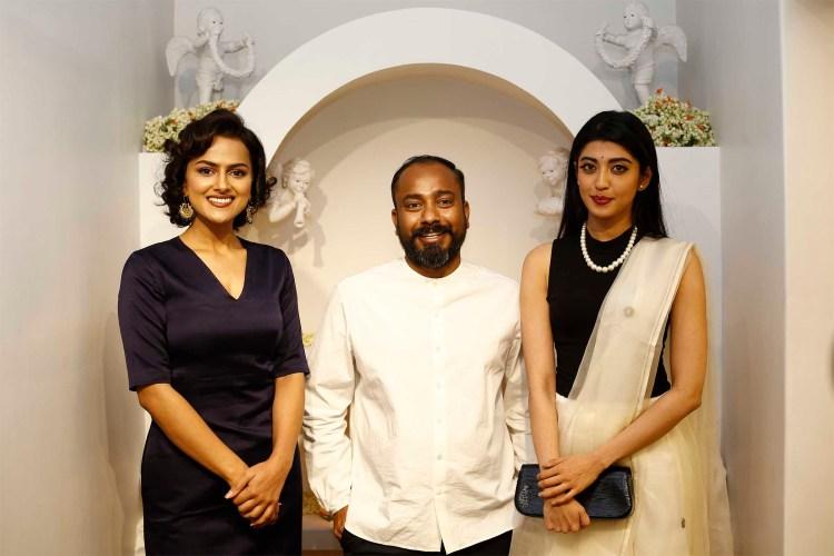 Sanjay Garg with Sharddha Srinath and Pranitha Subhash