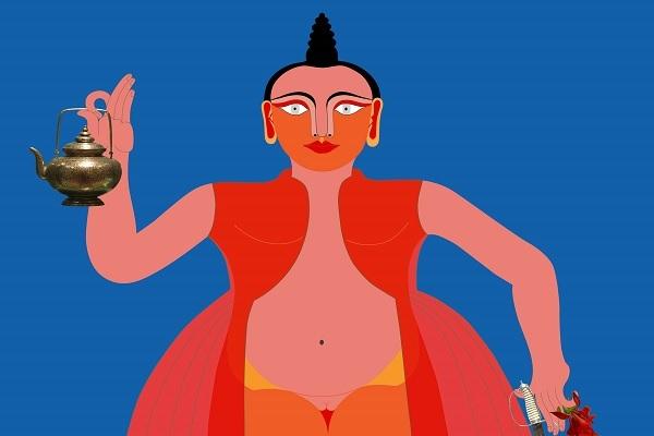 Artwork by Rekha Rodwittiya at Sakshi Gallery, Mumbai