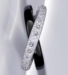 Rings of Saturn motif watch