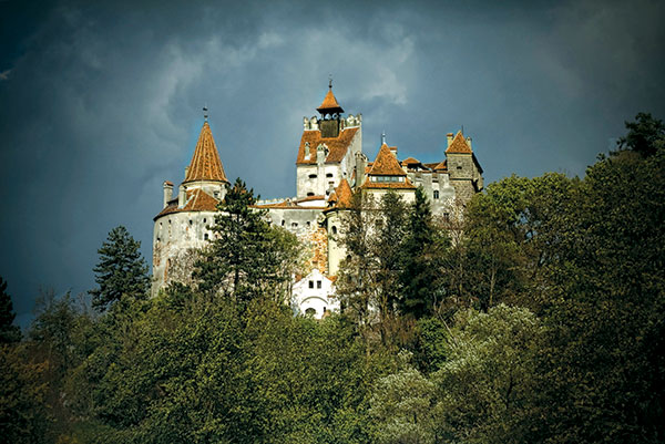 Romania, Count Dracula's legendary abode Bran Castle, Peles in Sinaia