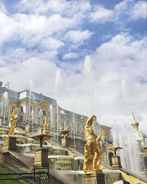 Fountains at Peterhof Palace