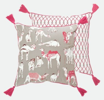 Pushkar Camel Fair cushion by Safomasi
