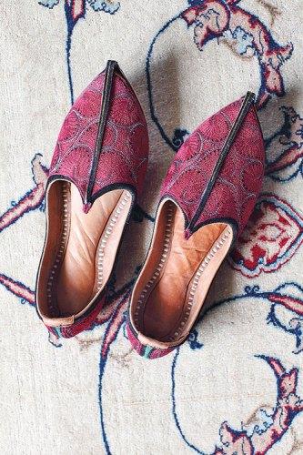 Mojari, Mojri, Mojadi. Medium: leather, cotton thread.