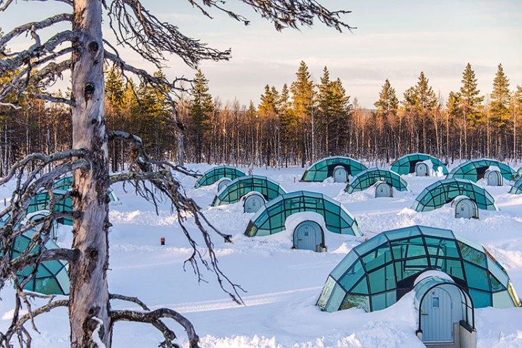 Glass Igloos At the Arctic Circle