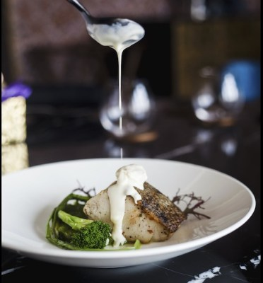 Chilean Seabass with Crab Butter Sauce