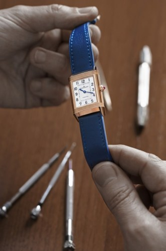 Clare Milford Haven personalises her Reverso watch
